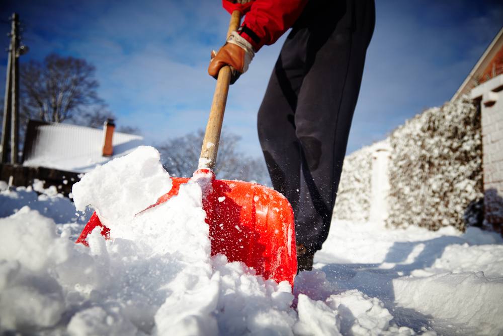 Shovelling the snow